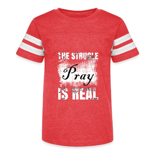 The struggle is real - Kid's Vintage Sport T-Shirt