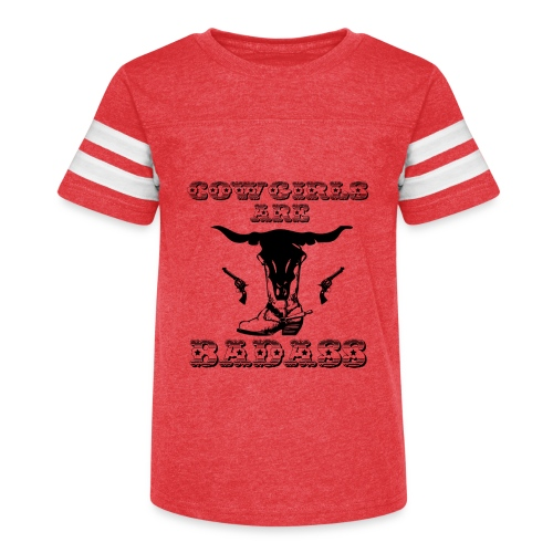 COWGIRLS ARE BADASS - Kid's Vintage Sport T-Shirt