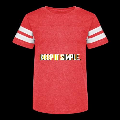 Keep It Simple - Kid's Vintage Sport T-Shirt