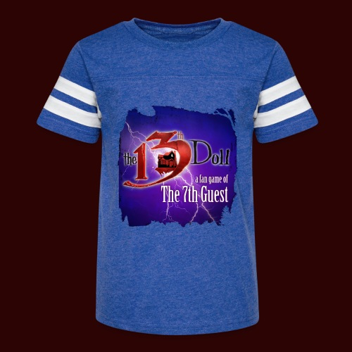 The 13th Doll Logo With Lightning - Kid's Vintage Sport T-Shirt