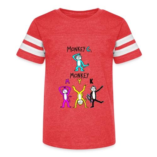 monkey see myk - Kid's Vintage Sport T-Shirt