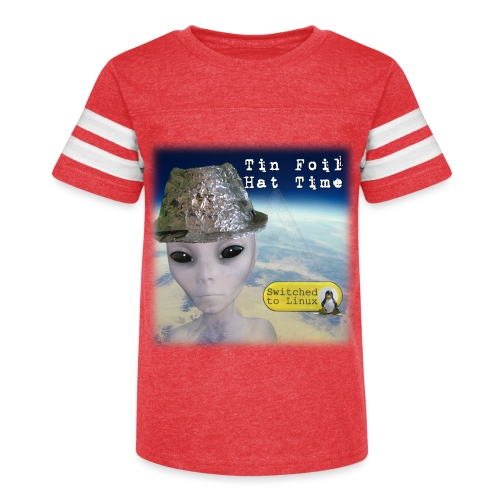 Tin Foil Hat Time (Earth) - Kid's Vintage Sport T-Shirt