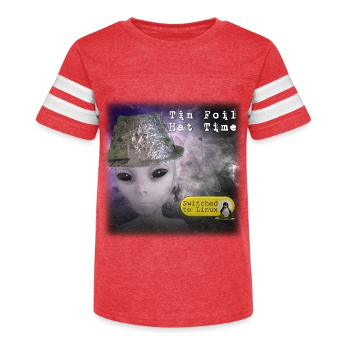 Tin Foil Hat Time (Space) - Kid's Vintage Sport T-Shirt