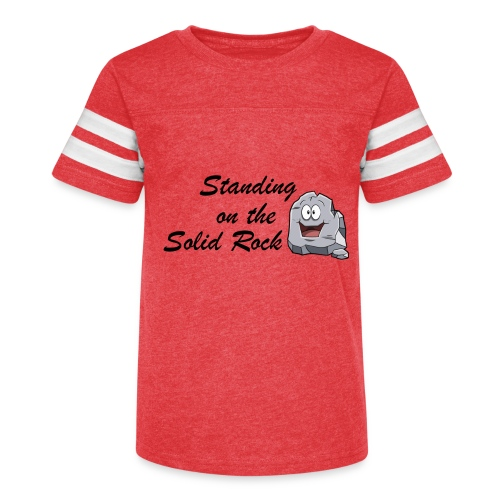 Standing on the Solid Rock - Kid's Vintage Sport T-Shirt