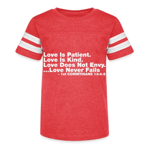 Love Bible Verse - Kid's Vintage Sport T-Shirt