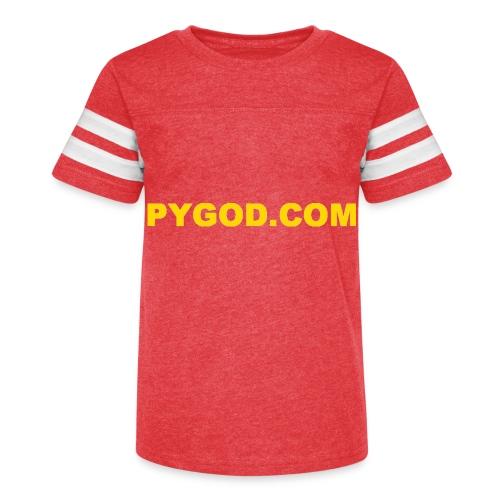 PYGOD COM LOGO - Kid's Vintage Sport T-Shirt