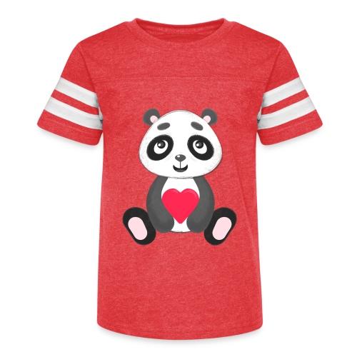 Sweetheart Panda - Kid's Vintage Sport T-Shirt