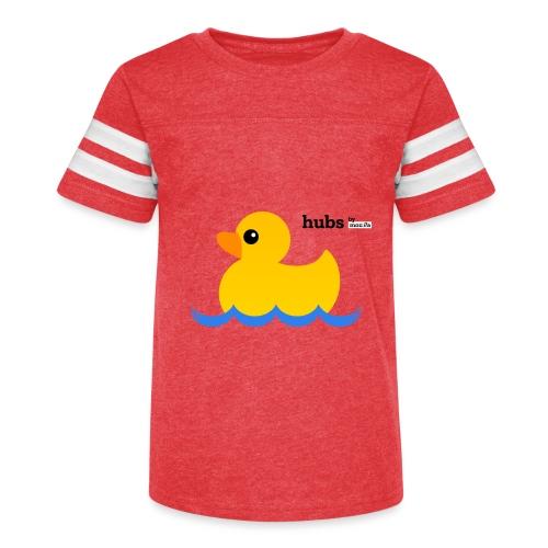 Hubs Duck - Wordmark and Water - Kid's Vintage Sport T-Shirt