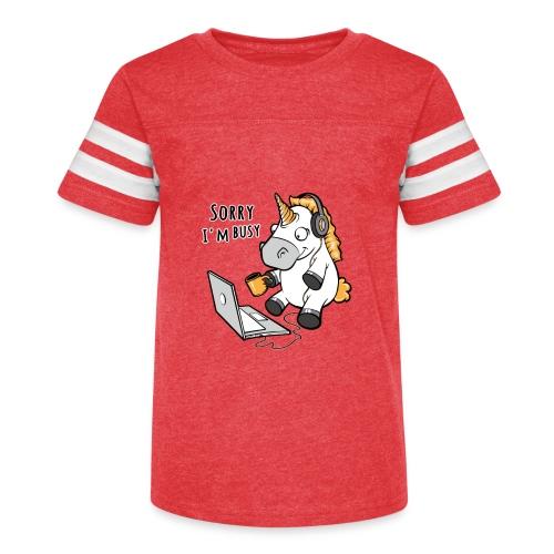 Sorry i'm busy, funny unicorn, music T Shirt - Kid's Vintage Sport T-Shirt