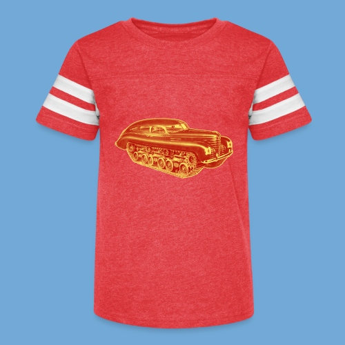 Car Tank - Red & Yellow - Kid's Vintage Sport T-Shirt