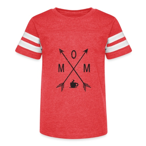 Mom Loves Coffee (black ink) - Kid's Vintage Sport T-Shirt
