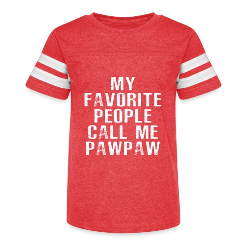 My Favorite People Called me PawPaw - Kid's Vintage Sport T-Shirt
