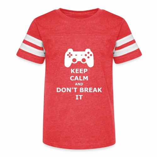 Keep Calm and don't break your game controller - Kid's Vintage Sport T-Shirt