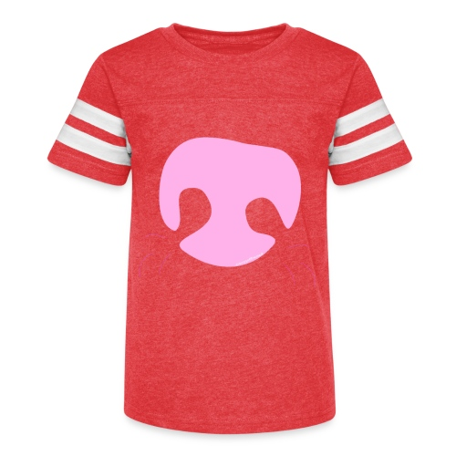Pink Whimsical Dog Nose - Kid's Vintage Sport T-Shirt
