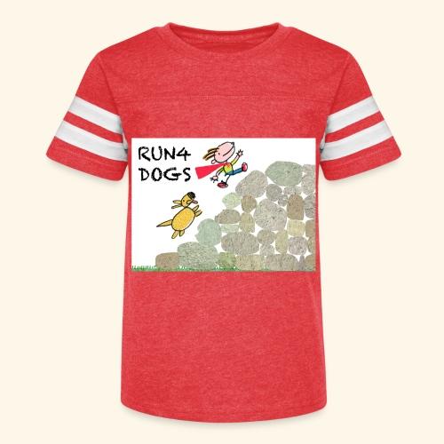 Dog chasing kid - Kid's Vintage Sport T-Shirt