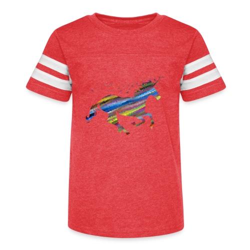 The Majestic Prismatic Streaked Magical Unicorn - Kid's Vintage Sport T-Shirt