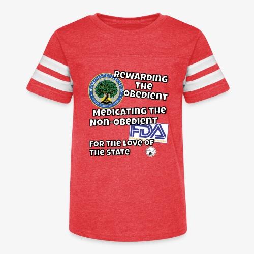 US Dept. of Education - Rewarding the Obedient... - Kid's Vintage Sports T-Shirt