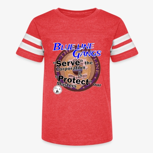 Thin Blue Line - To Serve and Protect - Kid's Vintage Sports T-Shirt