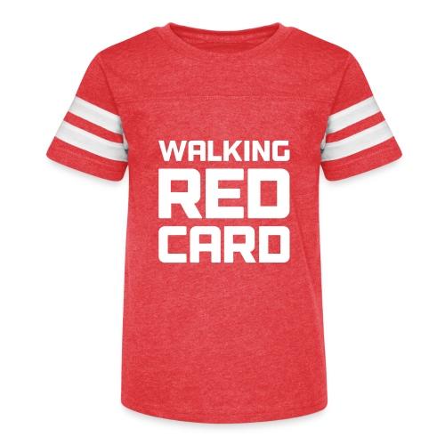 Walking Red Card - Kid's Vintage Sport T-Shirt