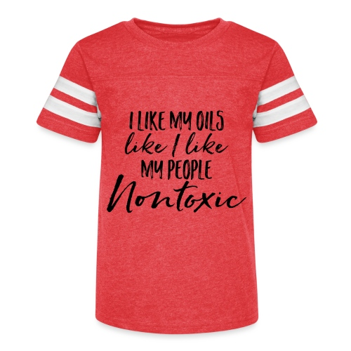 Nontoxic Oils and People - Kid's Vintage Sport T-Shirt