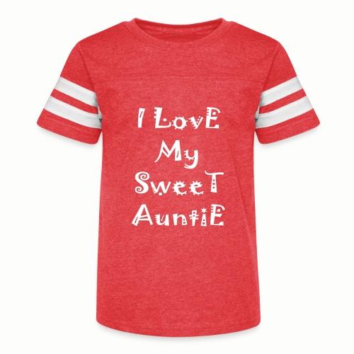 I love my sweet auntie - Kid's Vintage Sport T-Shirt
