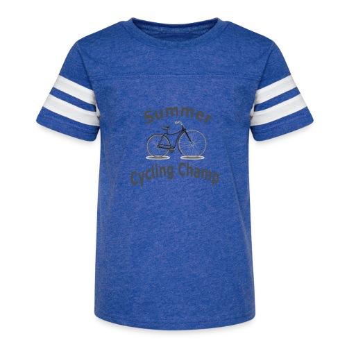 Summer Cycling Champ - Kid's Vintage Sport T-Shirt