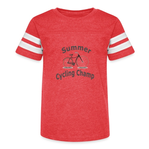 Summer Cycling Champ - Kid's Vintage Sport T-Shirt
