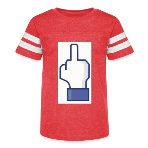 facebook middle finger di - Kid's Vintage Sport T-Shirt