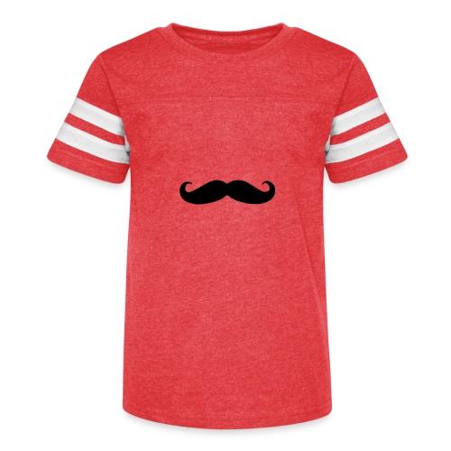 mustache - Kid's Vintage Sport T-Shirt