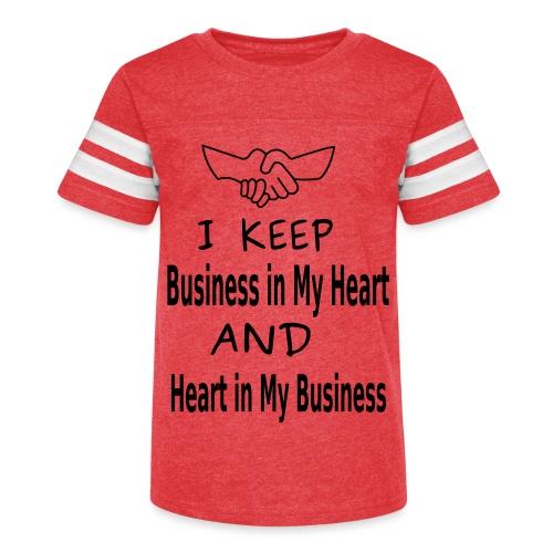 Business Heart - Kid's Vintage Sport T-Shirt