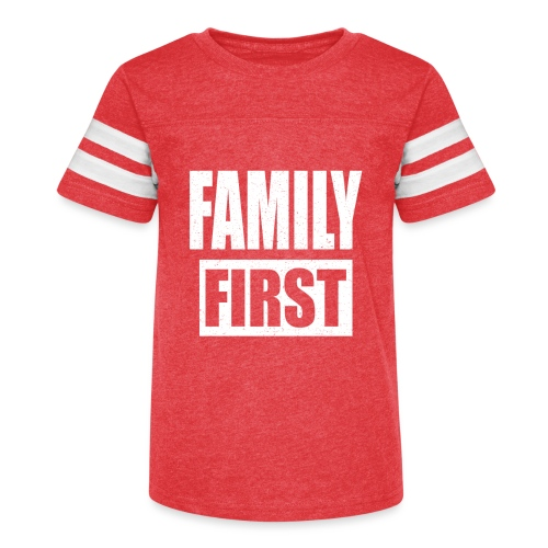 FAMILY FIRST T-SHIRT [MATCHING CLOTH/OUTFIT] - Kid's Vintage Sport T-Shirt