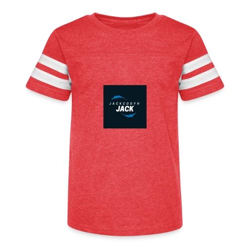 JackCodyH blue lightning bolt - Kid's Vintage Sports T-Shirt