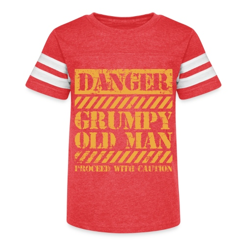 Danger Grumpy Old Man Sarcastic Saying - Kid's Vintage Sport T-Shirt