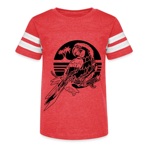 Tropical Parrot - Kid's Vintage Sport T-Shirt