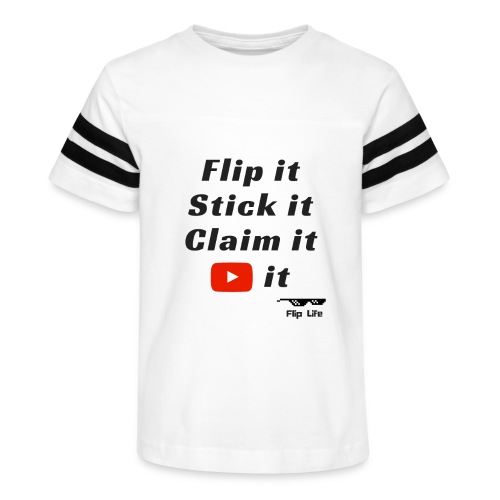 Flip it t-shirt black letting youtube logo - Kid's Vintage Sport T-Shirt