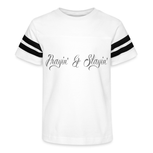 Prayin' and Slayin' - Kid's Vintage Sport T-Shirt