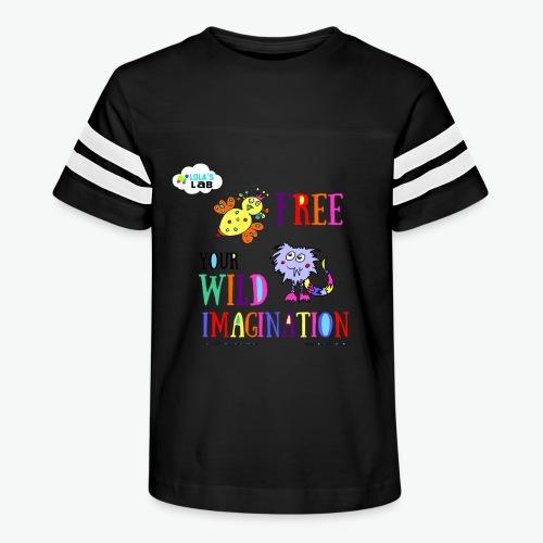 LOLAS LAB FREE YOUR WILD IMAGINATION TEE - Kid's Vintage Sport T-Shirt