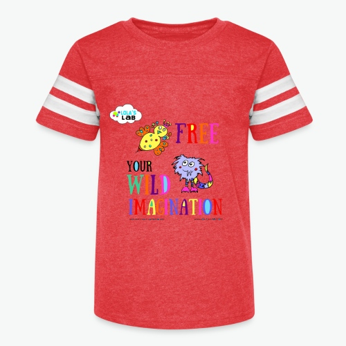 LOLAS LAB FREE YOUR WILD IMAGINATION TEE - Kid's Vintage Sport T-Shirt