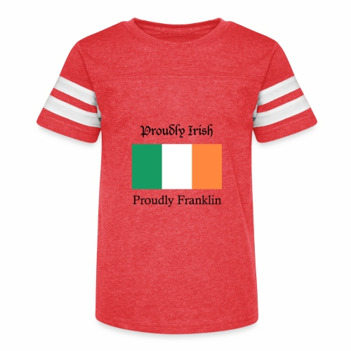Proudly Irish, Proudly Franklin - Kid's Vintage Sport T-Shirt