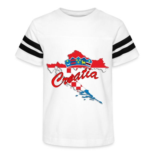 Croatia Football Team Colours T-Shirt Treasure Des - Kid's Vintage Sport T-Shirt
