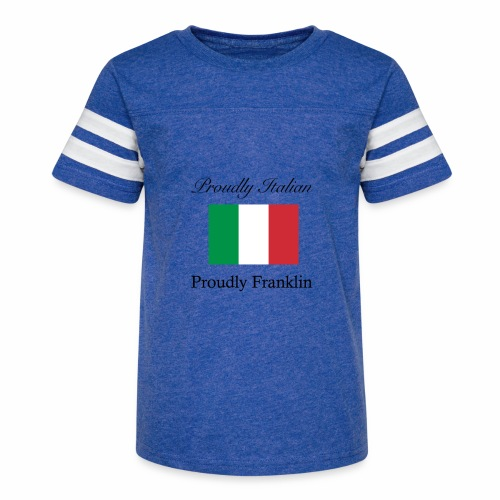 Proudly Italian, Proudly Franklin - Kid's Vintage Sport T-Shirt