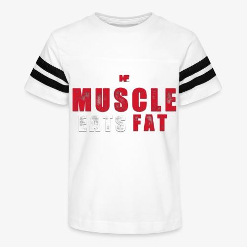 Muscle Eats Fat (Blood & Sweat) - Kid's Vintage Sport T-Shirt