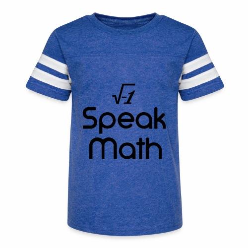 i Speak Math - Kid's Vintage Sport T-Shirt