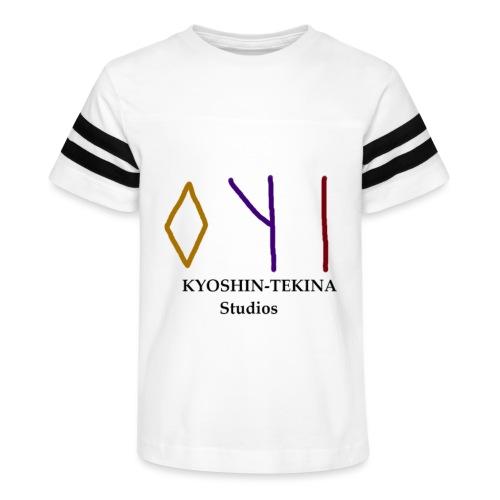 Kyoshin-Tekina Studios logo (black test) - Kid's Vintage Sport T-Shirt