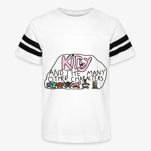 Kirby and the many other characters - Kid's Vintage Sport T-Shirt