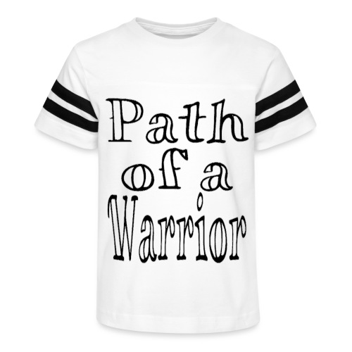 Path of a Warrior (White) - Kid's Vintage Sport T-Shirt