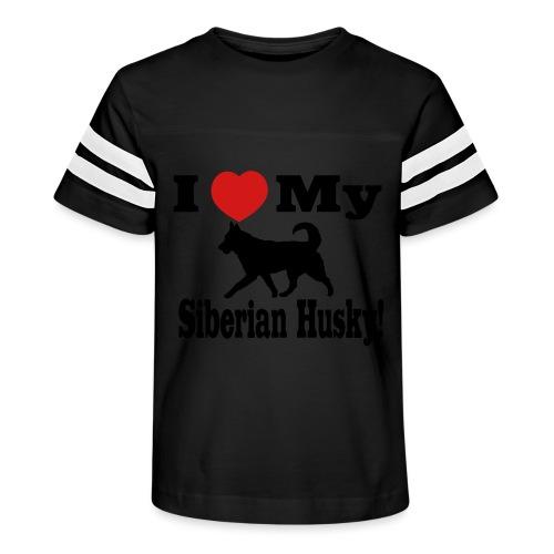 I Love my Siberian Husky - Kid's Vintage Sport T-Shirt