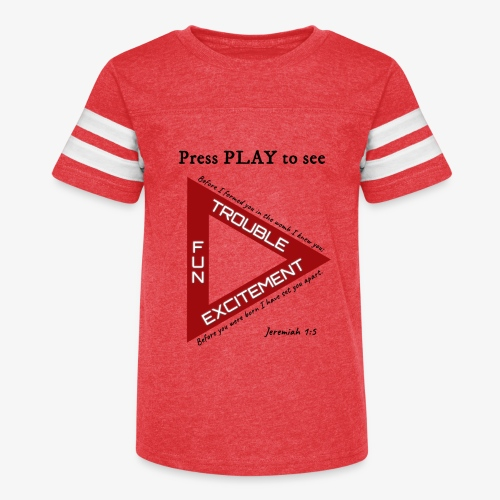 Press PLAY to See - Kid's Vintage Sport T-Shirt
