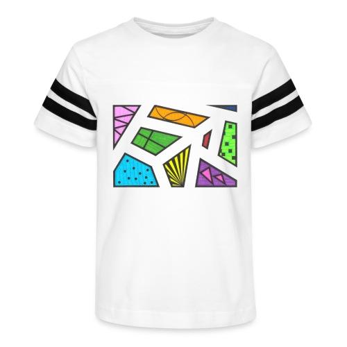 geometric artwork 1 - Kid's Vintage Sport T-Shirt