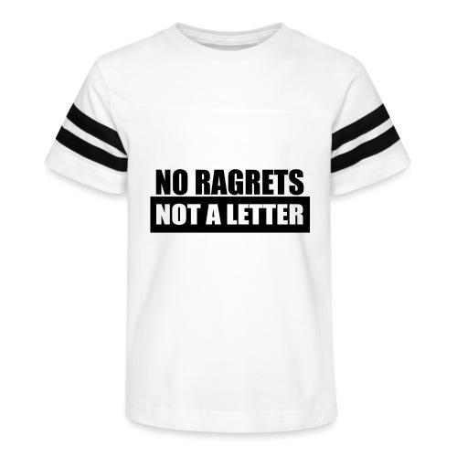 No Ragrets, Not A Letter - Kid's Vintage Sport T-Shirt